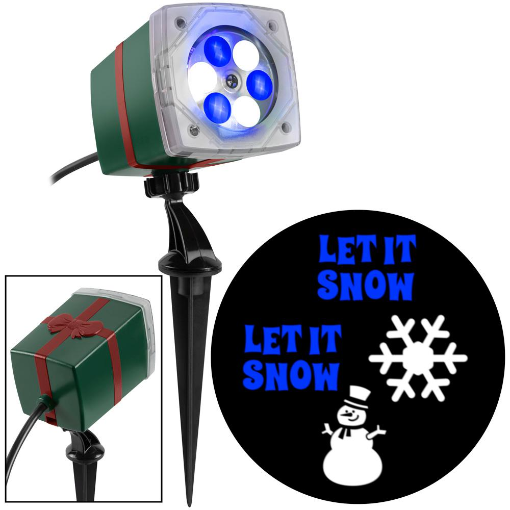 LightShow Blue/White Christmas LightShow Projection Whirl-A-Motion-Snowman