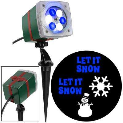 Blue/White Christmas LightShow Projection Whirl-A-Motion-Snowman