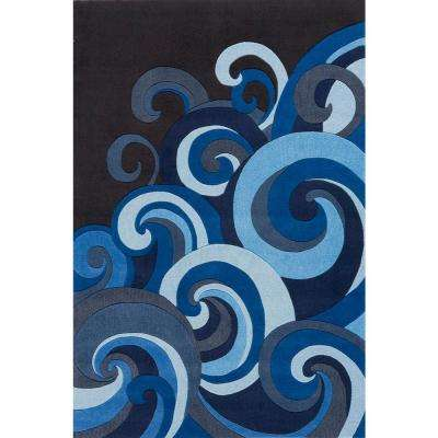 Young Buck Collection Surf 5 ft. x 7 ft. Area Rug