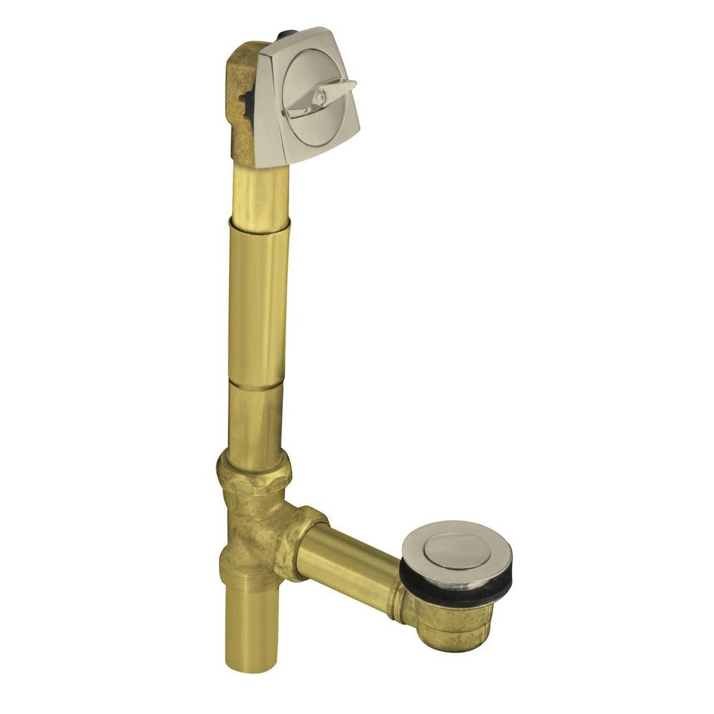 Clearflo 1-1/2 in. Brass Adjustable Pop-up Drain in Vibrant Brushed Nickel