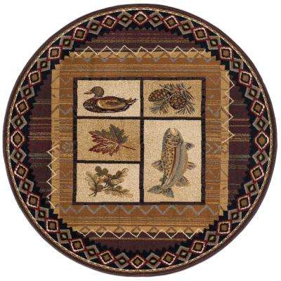 Nature Brown 7 ft. 10 in. Round Area Rug