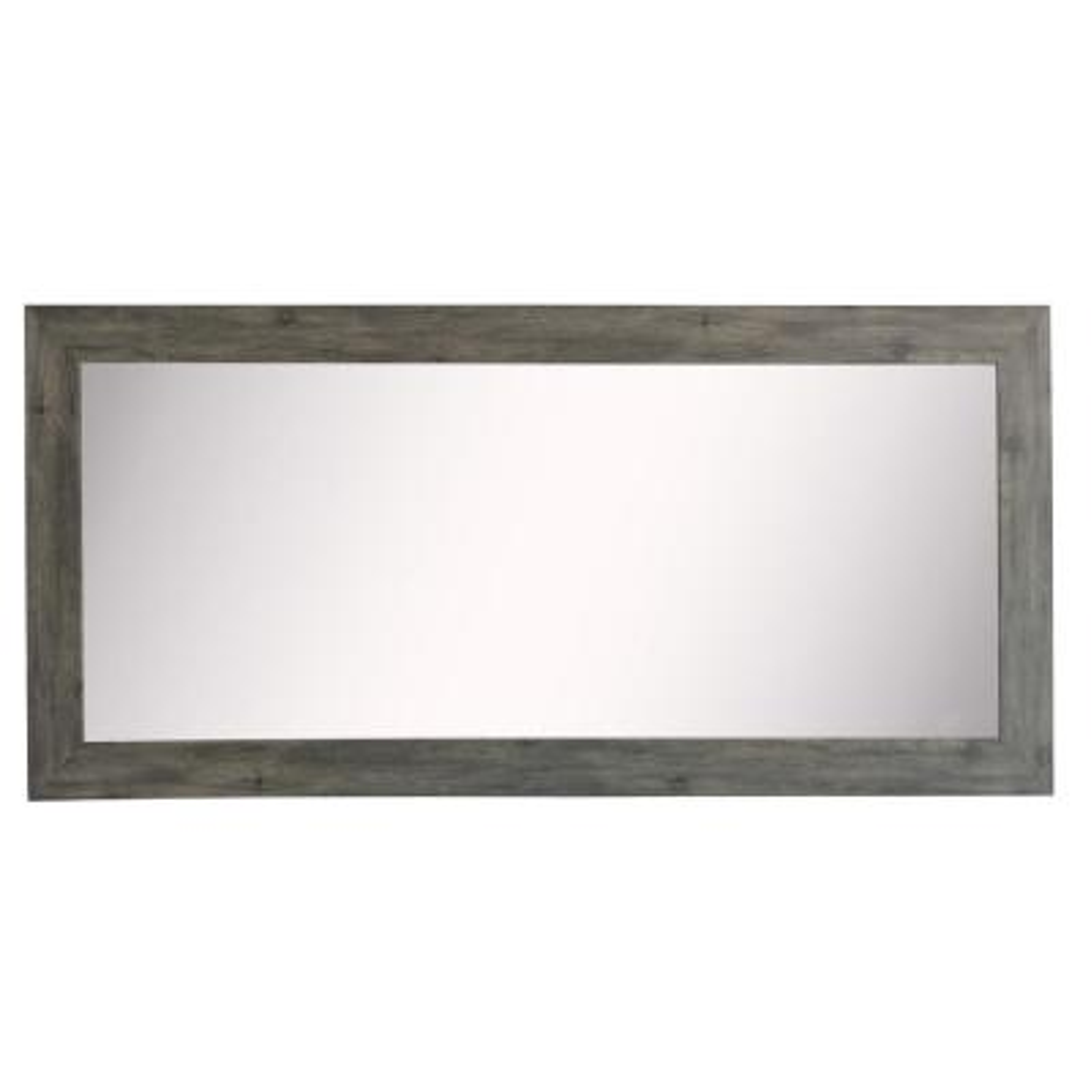 34 in. W x 67 in. H Framed Rectangular Bathroom Vanity Mirror in Gray