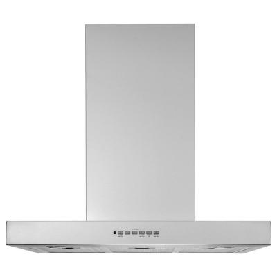 30 in. Wall Mount Range Hood with LED Light in Stainless Steel