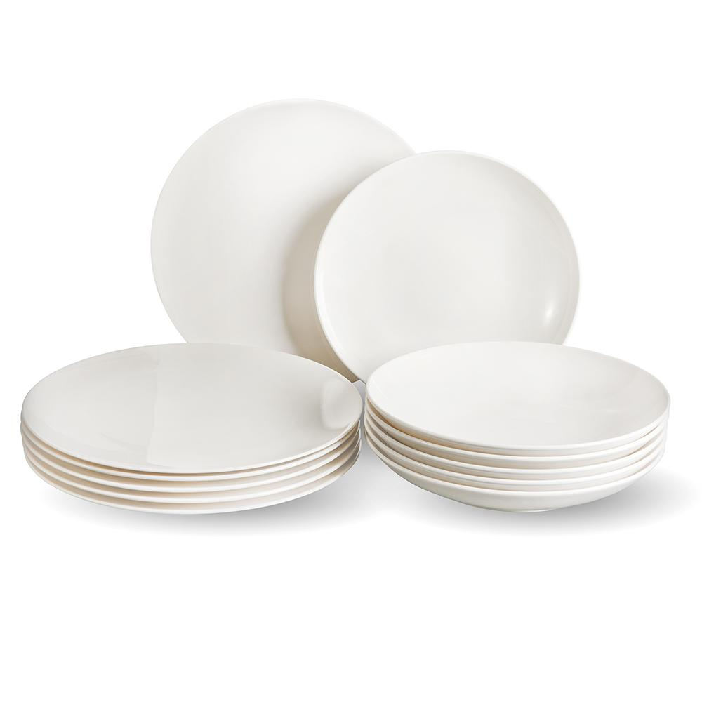 villeroy boch group vivo voice basic 12 piece white dinnerware set 1952117609 the home depot. Black Bedroom Furniture Sets. Home Design Ideas
