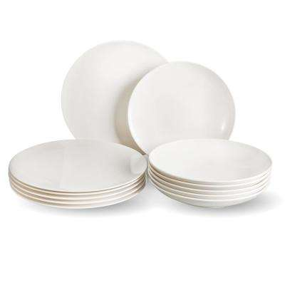Vivo Voice Basic 12-Piece White Dinnerware Set