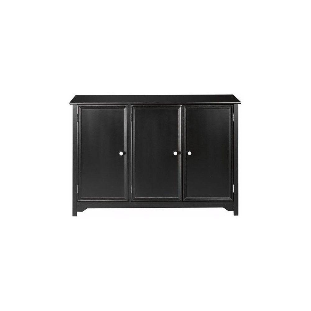 Oxford Black 3 Door Storage Console Table