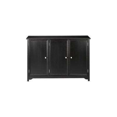 Oxford Black 3 Door Storage Console Table