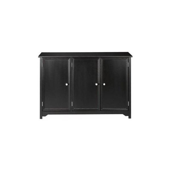 Home Decorators Collection Oxford Black 3 Door Storage Console Table 5217205210