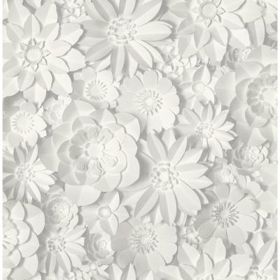 Dacre White Floral Wallpaper