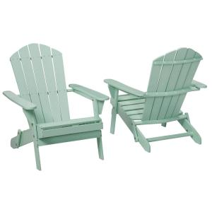 Mist Folding Outdoor Adirondack Chair (2-Pack) by