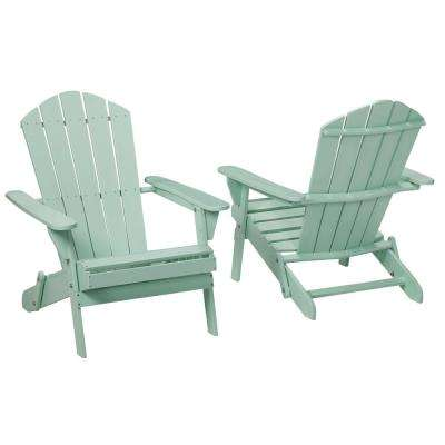 Mist Folding Outdoor Adirondack Chair (2-Pack)  sc 1 st  The Home Depot & Wood - White - Adirondack Chairs - Patio Chairs - The Home Depot