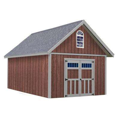Springfield 12 ft. x 20 ft. Wood Storage Shed Kit without Floor