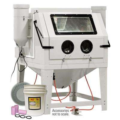 Dual Operator 2-Station Abrasive Cabinet with Starter Kit