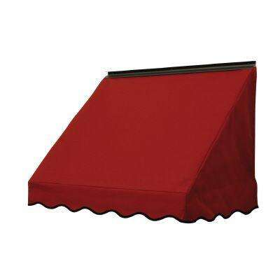 4 ft. 3700 Series Fabric Window Awning (23 in. H x 18 in. D) in Terra Cotta
