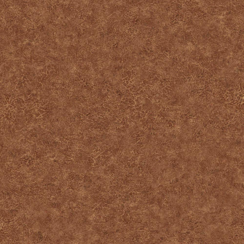 Roma Leather Tawny Timber Embossed Vinyl Wallpaper