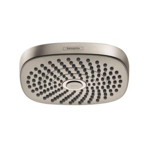 Hansgrohe Croma Select E 180 2-Spray Fixed Shower Head in Brushed Nickel by Hansgrohe