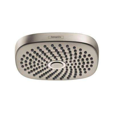Croma Select E 180 2-Spray Fixed Shower Head in Brushed Nickel