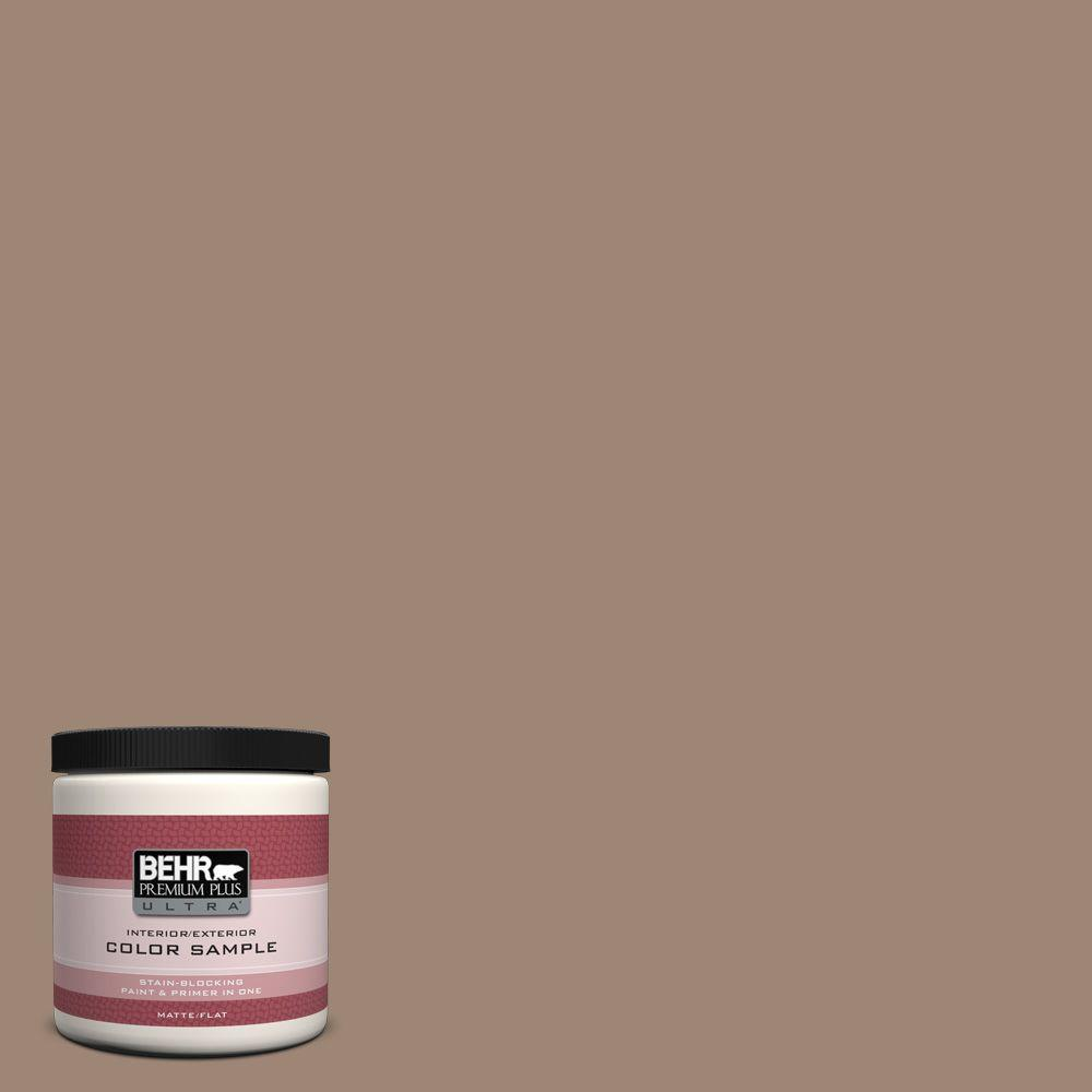 BEHR Premium Plus Ultra 8 oz. #PPU5-16 Earthnut Interior/Exterior Paint Sample