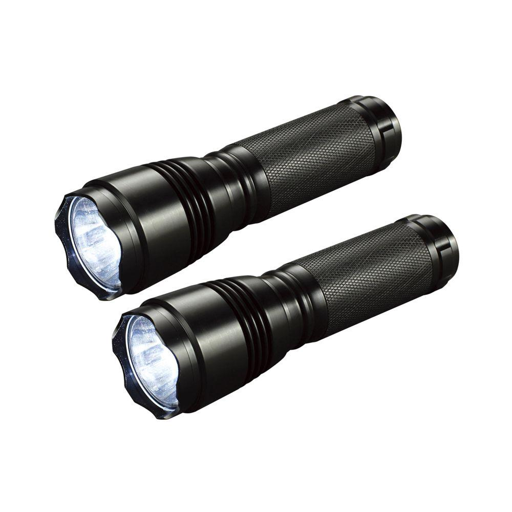 LED Tactical Style Flashlights (2-Pack)