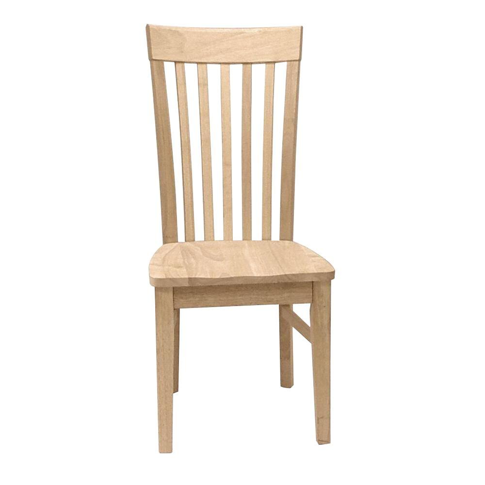 International Concepts Unfinished Wood Mission Dining Chair Set Of 2