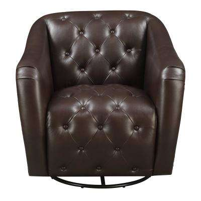 Lauren Chocolate Swivel Accent Chair