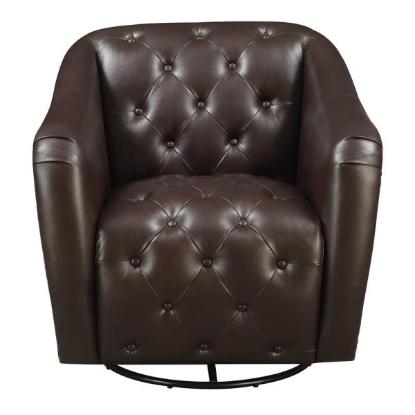 Chocolate Brown Accent Chairs.Picket House Furnishings Lauren Chocolate Swivel Accent Chair