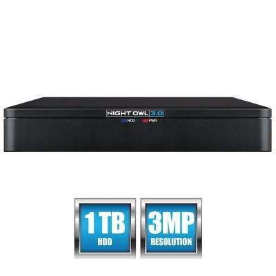 8-Channel Extreme HD 3.0 MP DVR Player with 1 TB Hard Drive