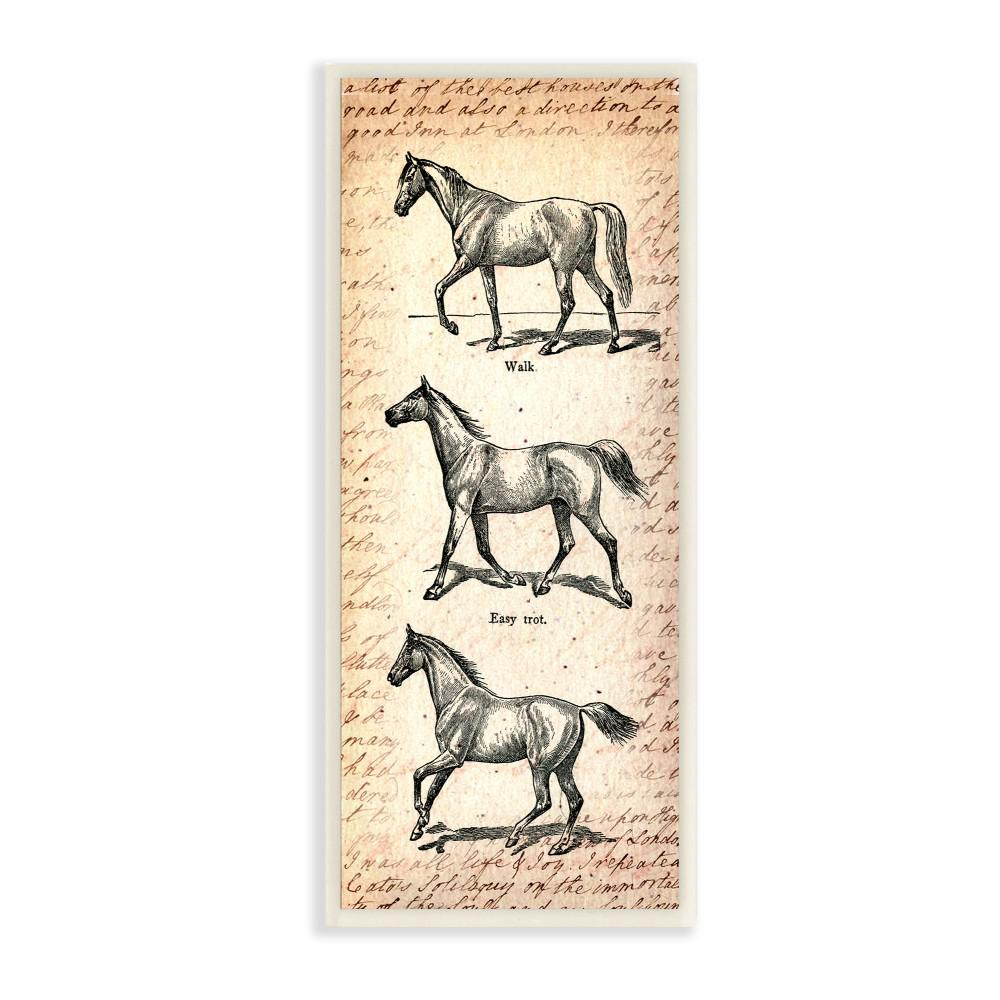 The Stupell Home Decor Collection 7 In X 17 Vintage Horse Movement