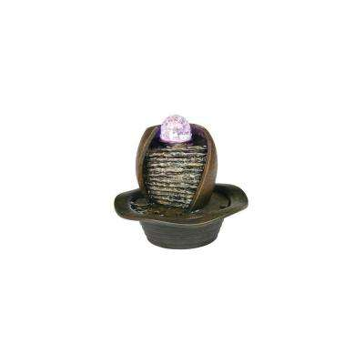 8 in. Antique Water Fountain with LED Light