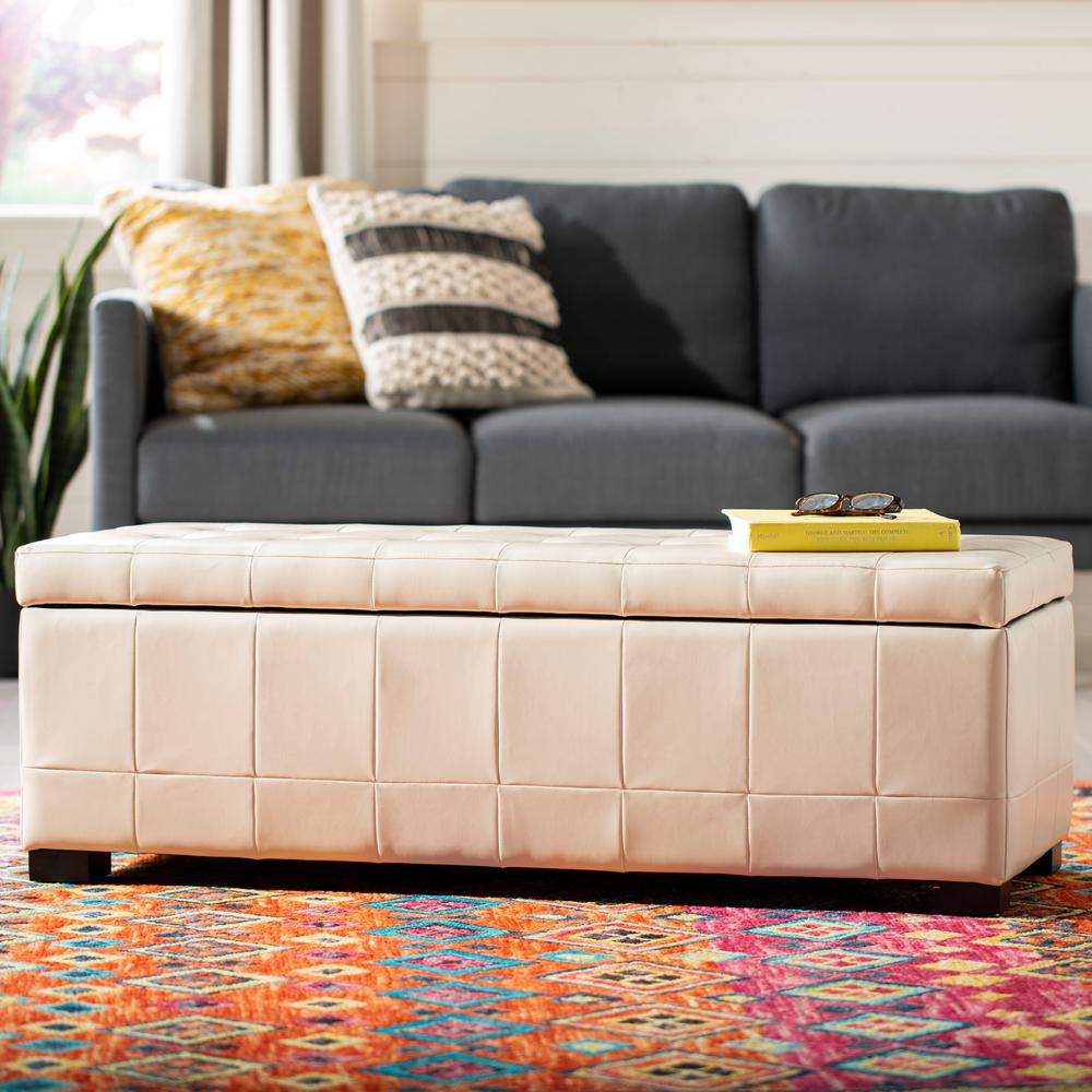 Safavieh Angelina Off White Storage Bench