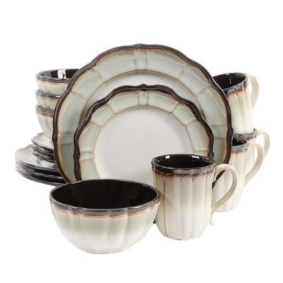 Mableton 16 Piece Green Dinnerware Set