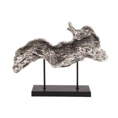 Silver Plated Log Sculpture