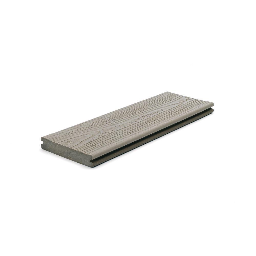 Trex Transcend 1 in. x 5.5 in. x 1 ft. Gravel Path Composite Decking Board Sample