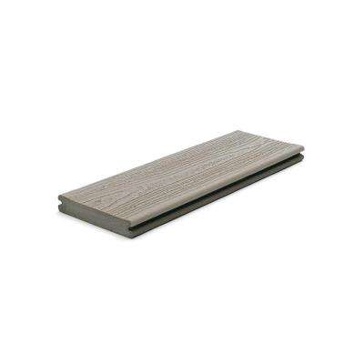 Transcend 1 in. x 5.5 in. x 1 ft. Gravel Path Composite Decking Board Sample