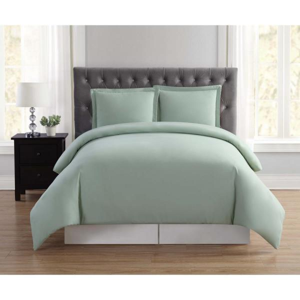 Everyday 2-Piece Sage Twin XL Duvet Cover Set