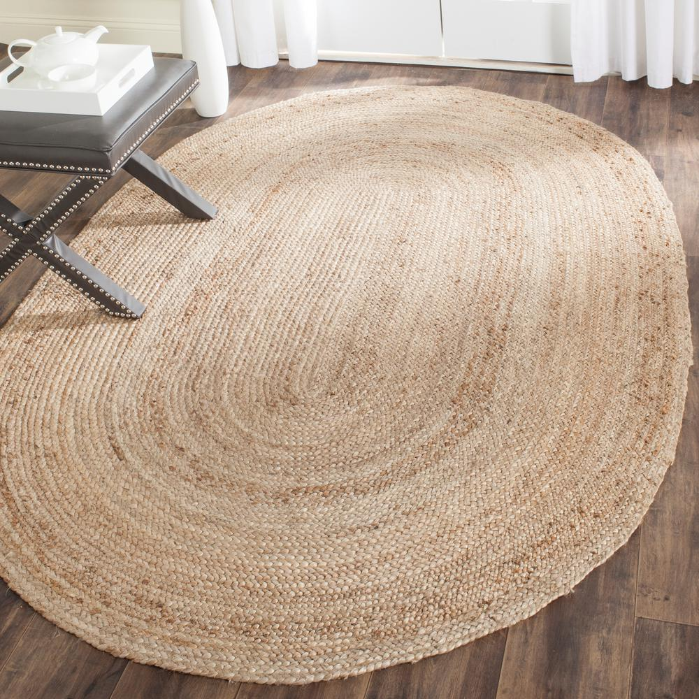 Large Oval Area Rugs: Safavieh Cape Cod Natural 6 Ft. X 9 Ft. Oval Area Rug