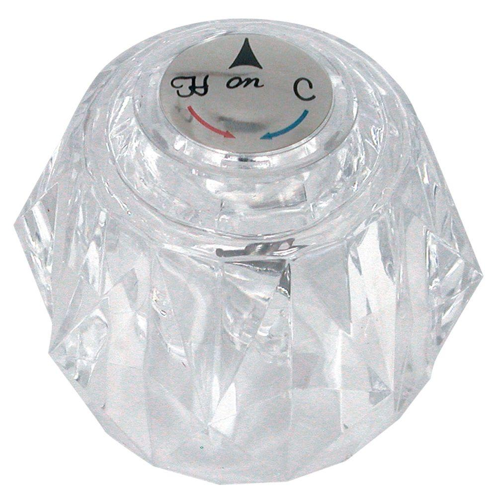 DANCO Knob Handle in Clear for Delta Tub and Shower Faucets-88439 ...