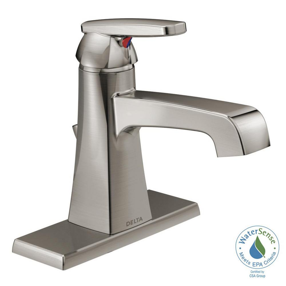 Delta Ashlyn Single Hole Single-Handle Bathroom Faucet with Metal ...
