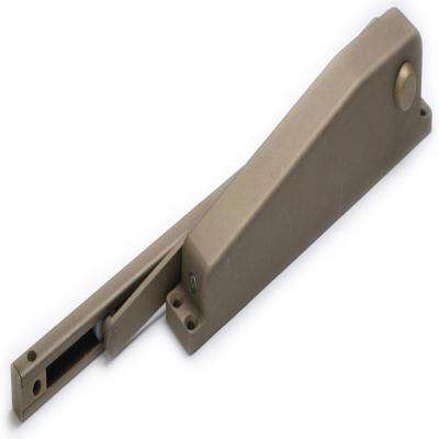 Residential Hold Open Mini Door Closer in Brown