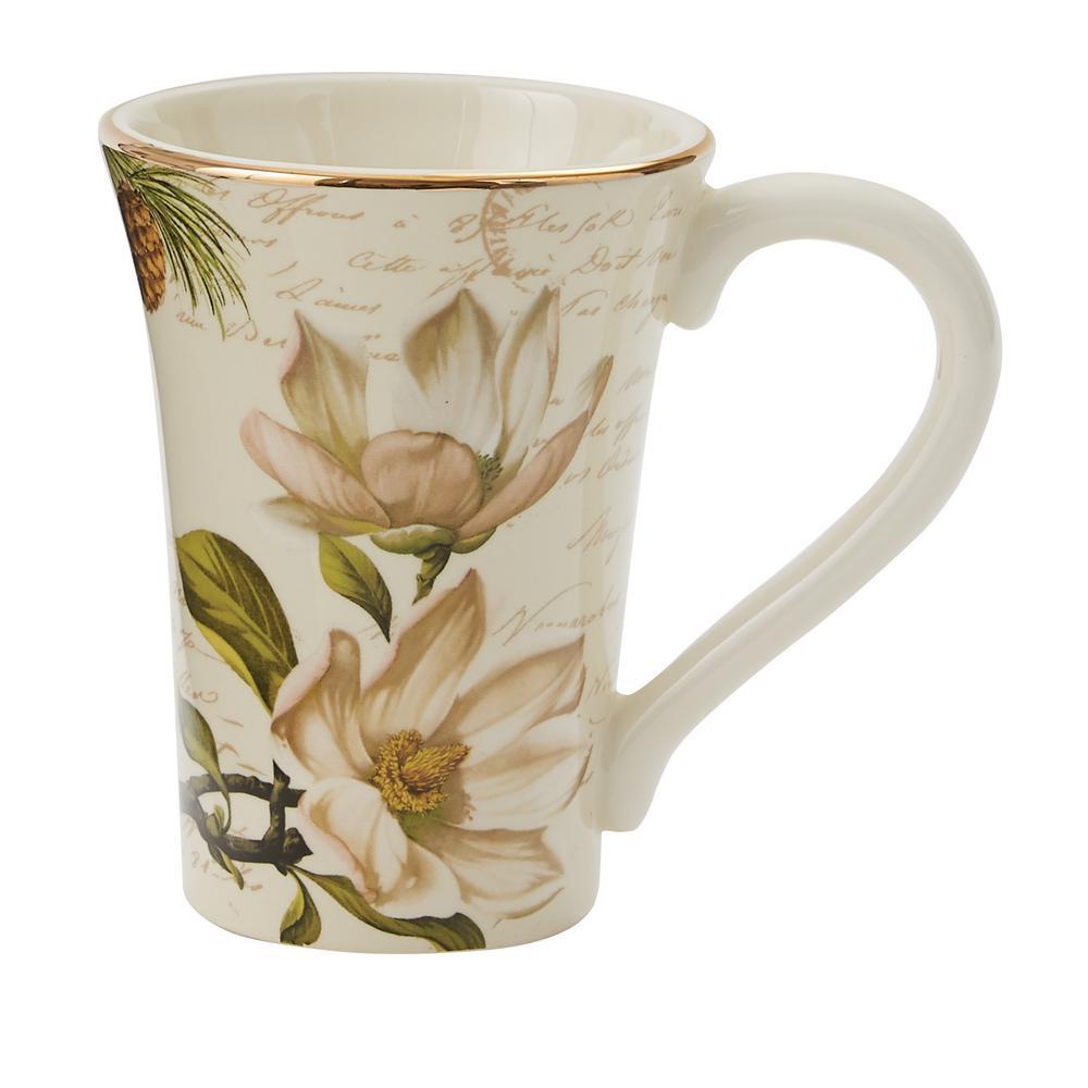 Wintertime Multicolor Ceramic Coffee Mug (Set of 4)