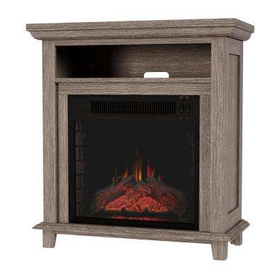 32 in. Freestanding Electric Fireplace TV Stand in Gray