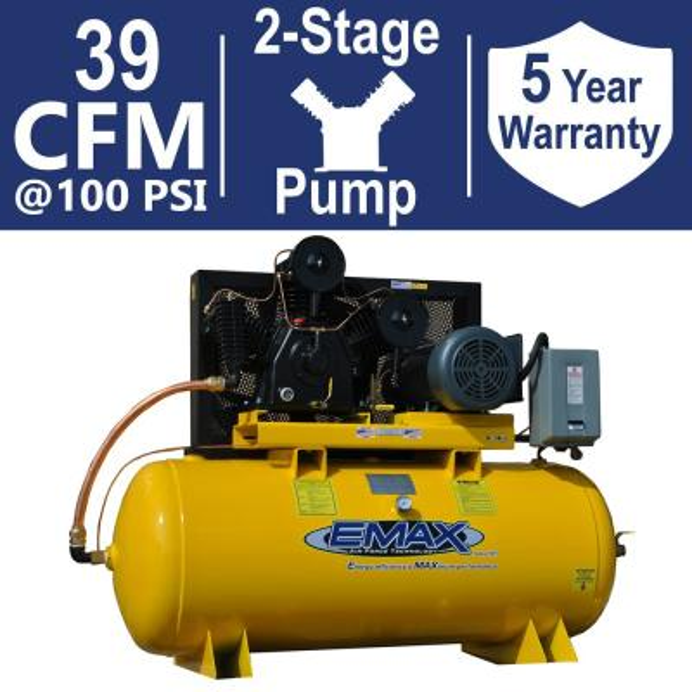 fb86e4b99fa7 Industrial PLUS Series 120 Gal. 10 HP 1-Phase 2-Stage Horizontal Stationary
