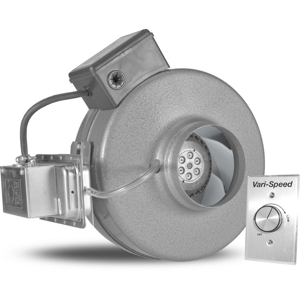 Powerfan 4 in. 220 CFM Inline Fan with Pressure Sensing Switch and Vari-Speed Kit