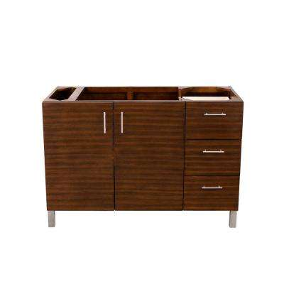 Metropolitan 48 in. W x 33 in. H Single Bath Vanity Cabinet Only in American Walnut with Chrome Hardware