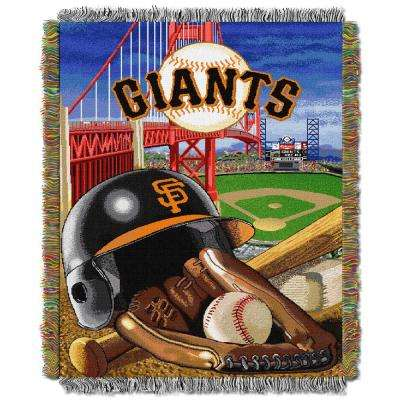 SF Giants Multi Color Home Field Advantage Tapestry Throw
