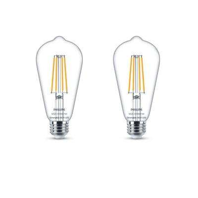 Soft White ST19 LED 40-Watt Equivalent Dimmable Smart Wi-Fi Wiz Connected Wireless Light Bulb (2-Pack)
