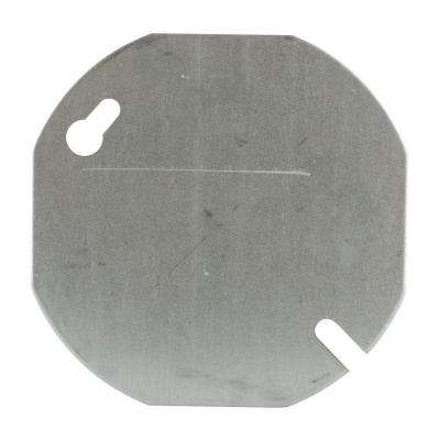 3-1/2 in. Pre-Galvanized Steel Box Cover Flat and Blank (Case of 25)