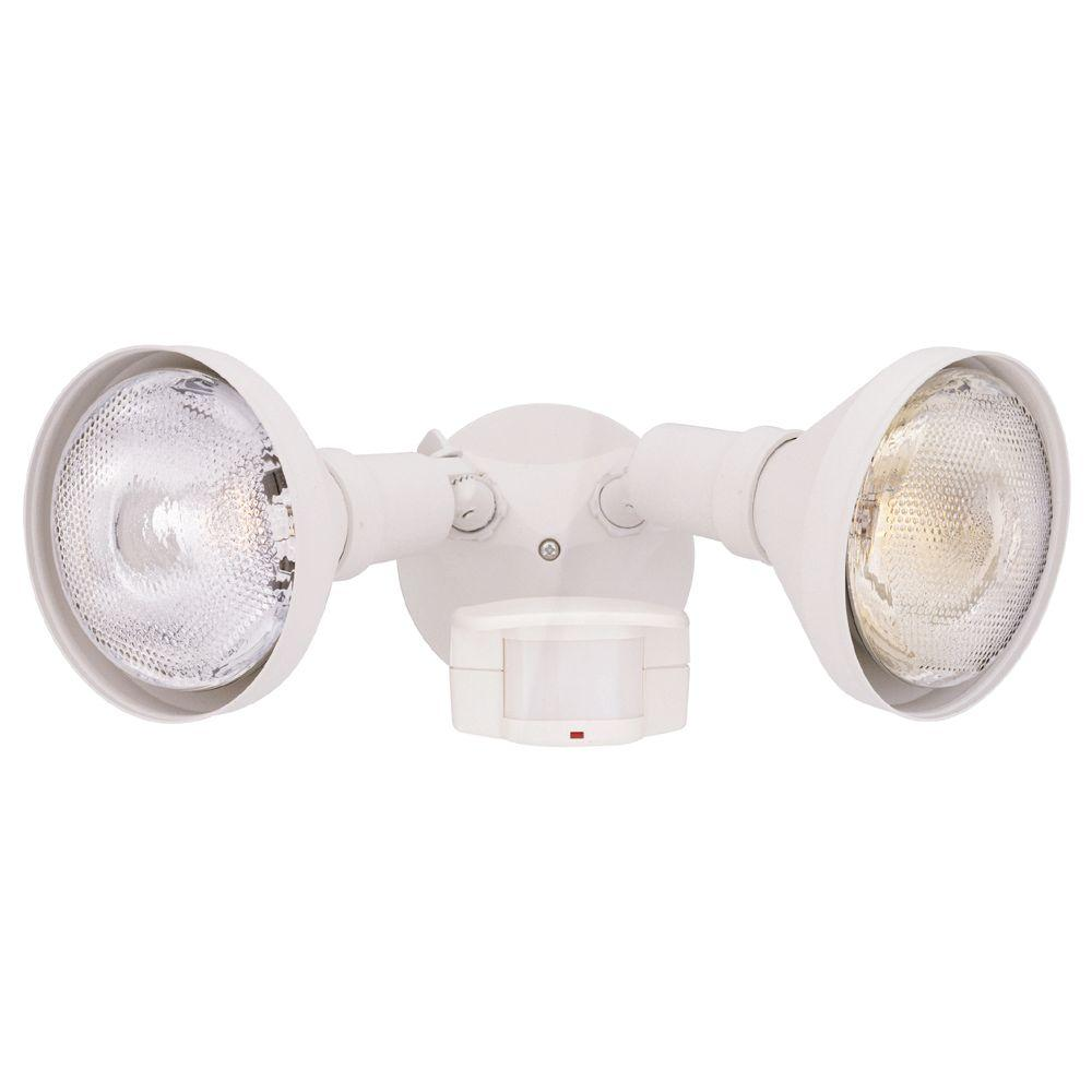Designers Fountain Area and Security 2-Light White Outdoor ...