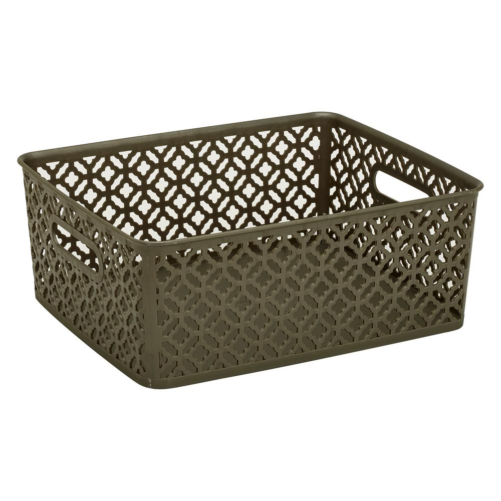14 in. x 11.5 in. x 5.3 in. Trellis Medium Storage