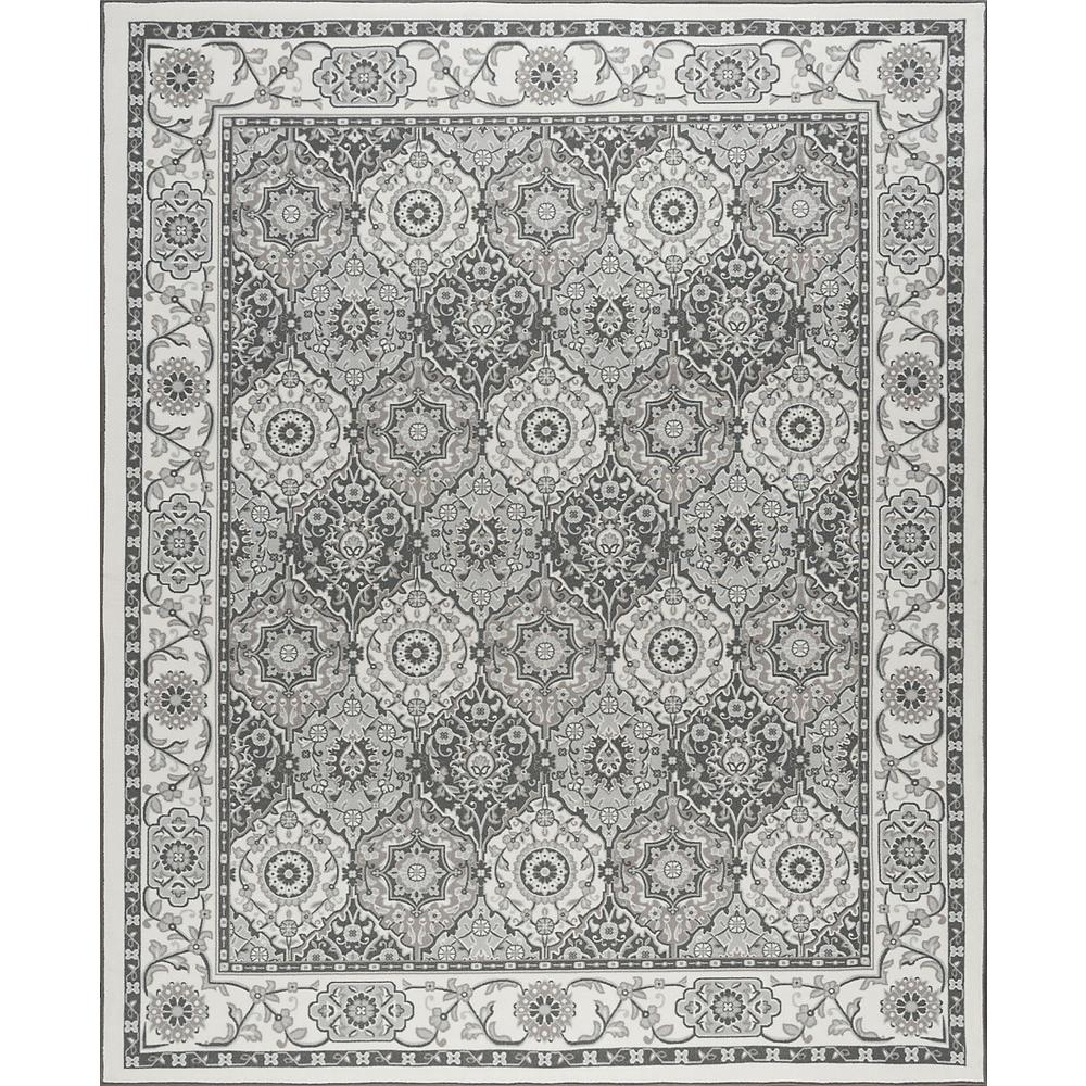 7x10 Rug: Tayse Rugs Majesty Ivory 6 Ft. 7 In. X 9 Ft. 6 In. Area
